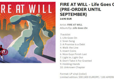 Fire At Will – 12″ album pre-orders