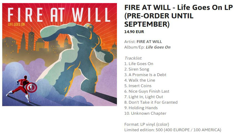 Fire AT Will 12 vinyl limited